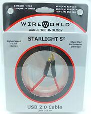 WireWorld StarLight 5.2 USB 2 meter USB A - USB miniB Wire World