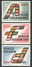 GHANA 1960 AFRICA libertà giorno/Bandiere Nazionali/Set MAP 3v (n39593)