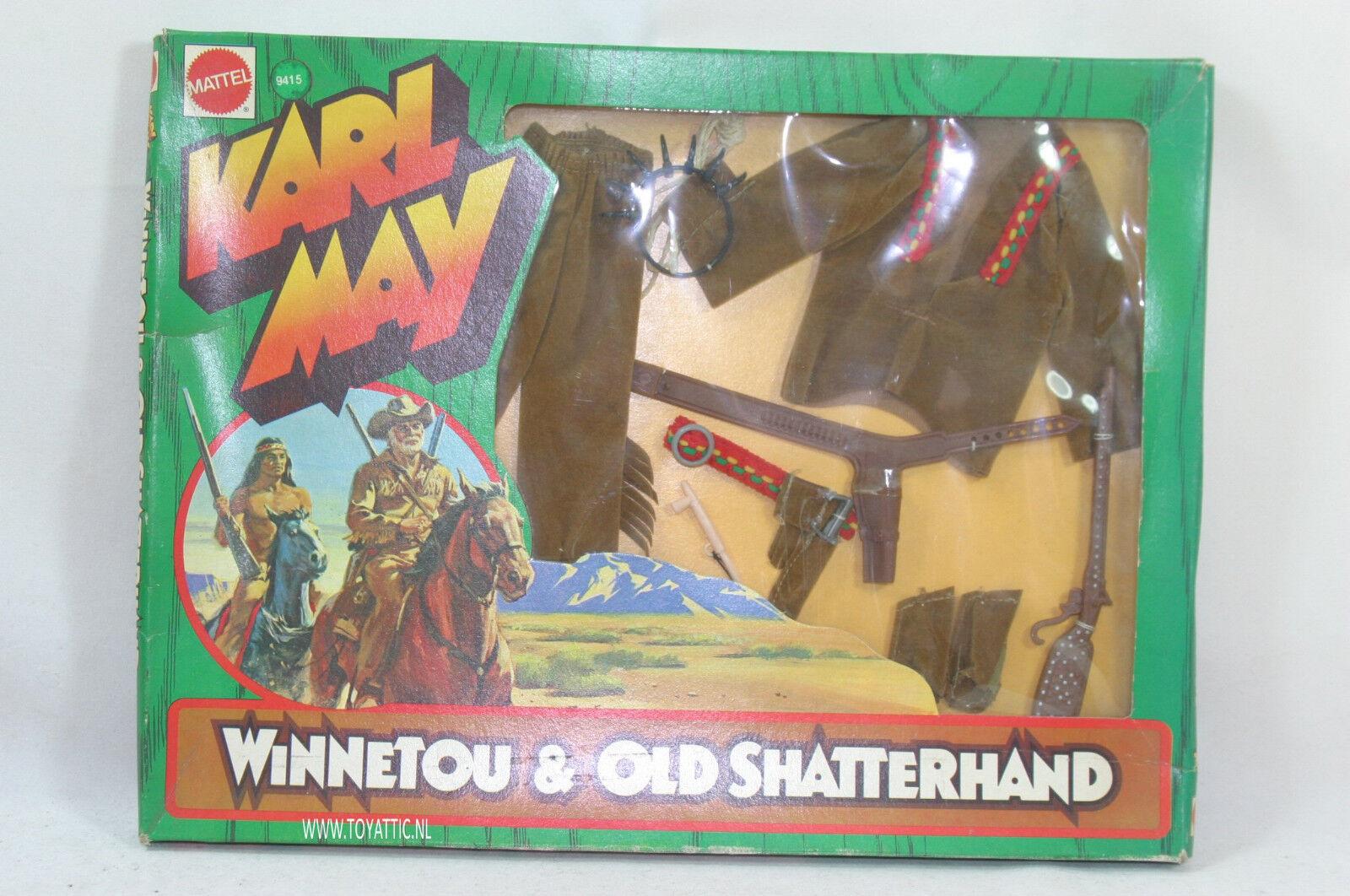 Big Jim storlek Karl May Winenetou mode från 1975 av Mattel NRFB (2)