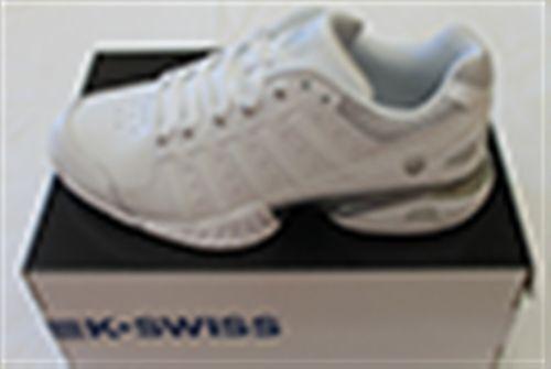 K-Swiss Receiver III Tennisschuhe Tennisschuhe Tennisschuhe Damen weiß silber 41ee22