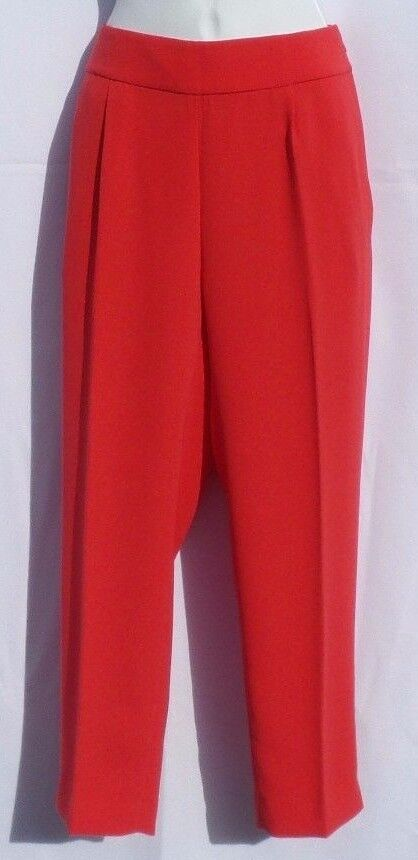 J.CREW Collection 88164 Curator Pant RPO Rich Poppy Red Drapey Work Trousers 0