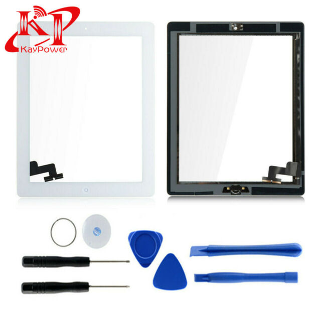 New Touch Screen Digitizer Replacement For iPad 2+ Home Button A1395 A1396 A1397