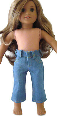 Fit For 18/'/' American Girl Bitty Baby Doll Clothes Ouifit Star Denim Capri Pants
