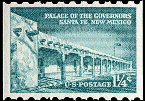 US Postage Stamp PHOTO MAGNET Reproduction Palace of Governors 1954 issue
