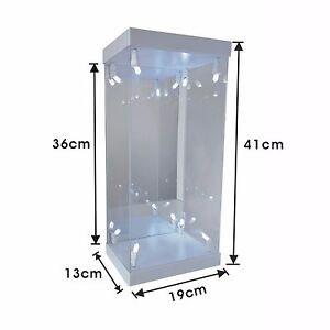 Details About White Acrylic Display Case Led Light Box For 12 1 6 Scale Phicen Action Figure