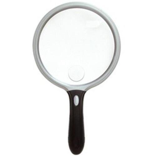 "UltraOptix LED Lighted Jumbo Magnifier 2X Lens w// 6X Bifocal Insert Round 5/"""