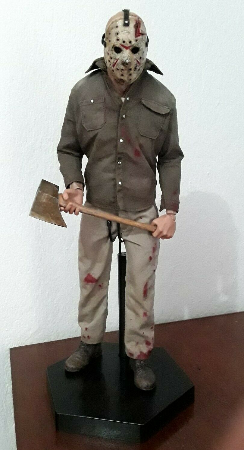 1 6 Sideshow Personalizado Friday the 13th parte 3 Jason Voorhees Figura De Acción