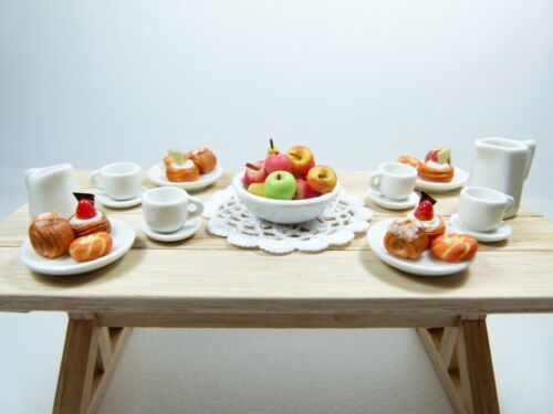 Dishes Sweets Doily complete set for your dollhouse Scale 1:12 Fruits