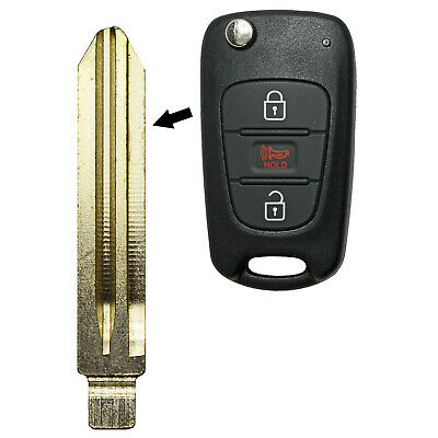 PIN FOR KIA FORTE NEW REPLACEMENT FLIP KEYLESS REMOTE FOB UNCUT KEY BLADE