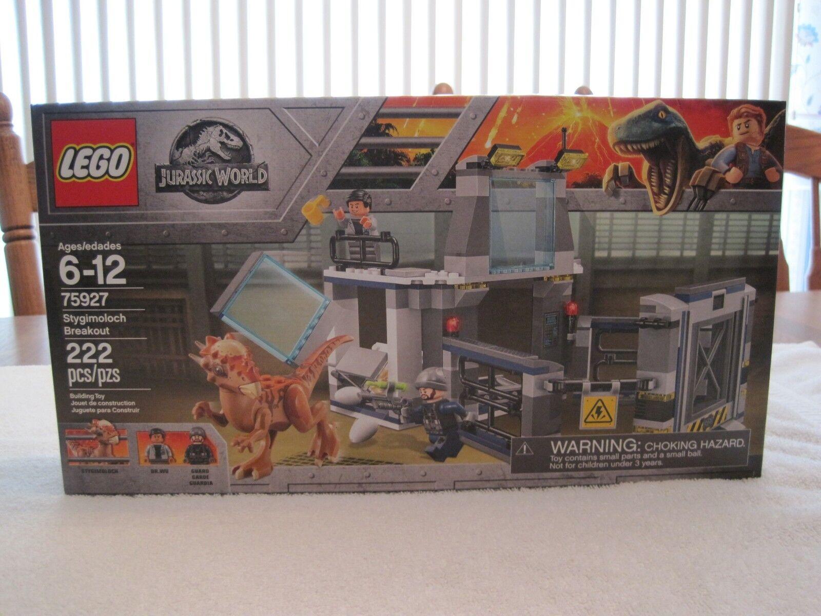 Lego 75927 Jurassic World Stygimoloch Breakout -- Nuevo -- sellado de fábrica