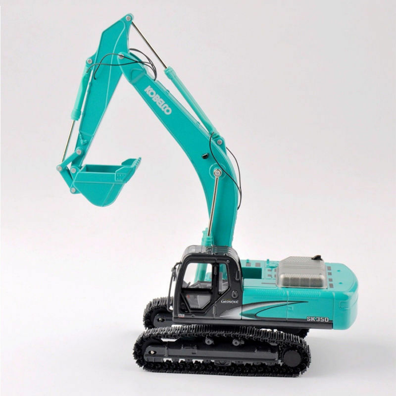 autorización oficial Excavadora Kobelco Diecast Escala Escala Escala 1 50 SK-350 Azul Claro Excavadora Modelo De Vehículos Coche Camión  punto de venta