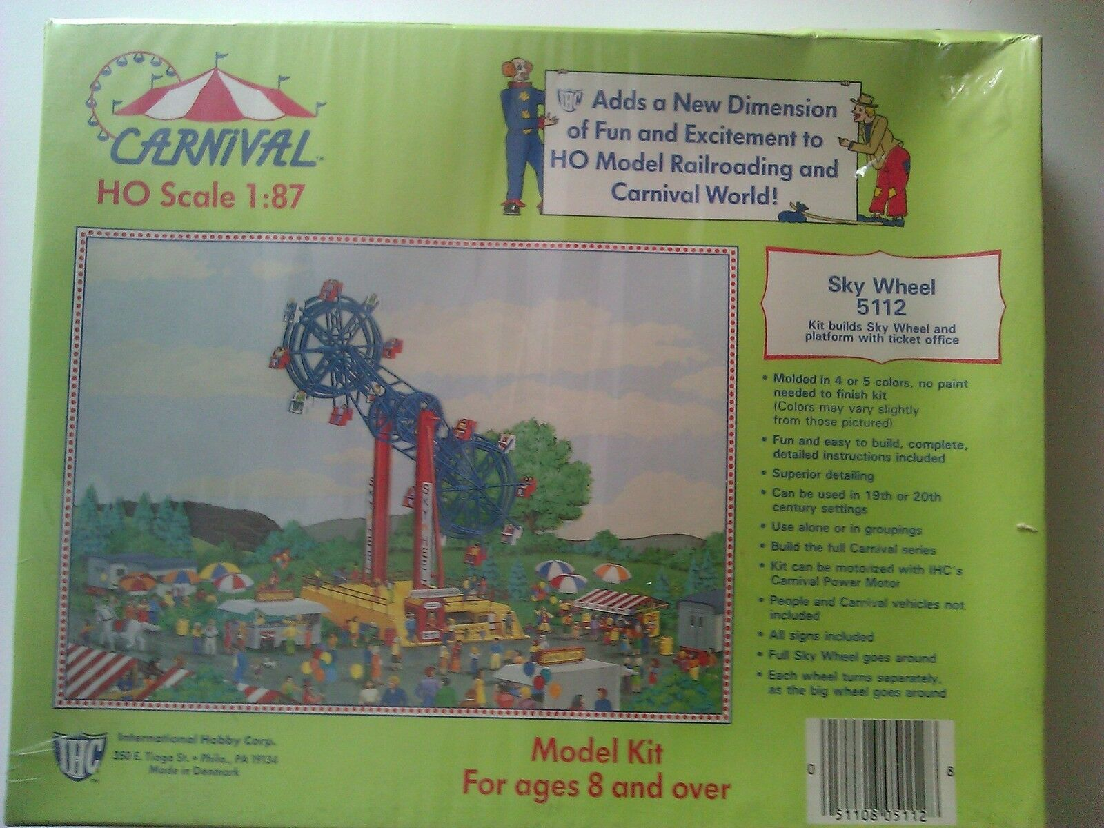 International Hobby Corp. 1 87 HO Carnival Sky Wheel Factory Sealed