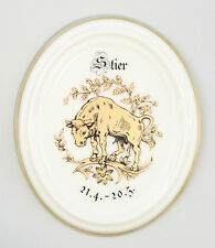 Porzellan Wandbild Sternzeichen Medaillon Stier Kämmer Thüringen 9988064
