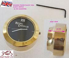 NEW ROYAL ENFIELD LOGO BLACK DIAL BRASS STEM NUT/HANDLE T NUT CLOCK WATCH CLOCK
