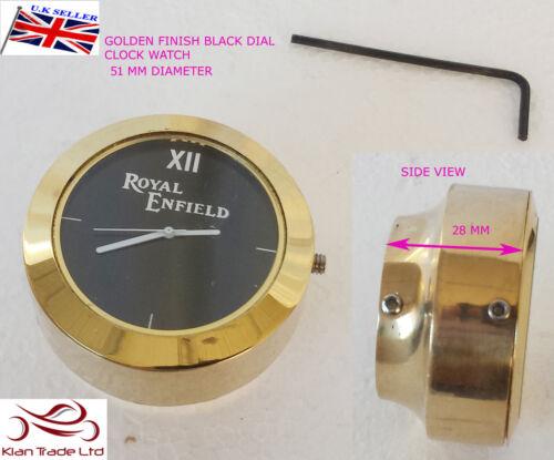 Neu Royal Enfield Logo Schwarzes Zifferblatt Messing Stange Mutter Lenker T