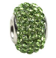 Birthstone Glass Rhinestone Jewelry Bead for Charm Bracelet Spacer 10 x 14mm NEW