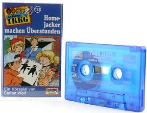 TKKG-132-Homejacker-machen-Uberstunden-Hoerspiel-MC-blau-Kassette-Europa
