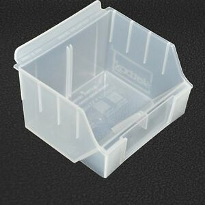 10x Storbox standard 130x140x97 Clear Plastic Box for Slatwall GridMesh Pegboard
