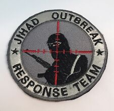Grey JIHAD OUTBREAK SNIPER Scope Crosshair SWAT Black Ops Tactical Morale PATCH