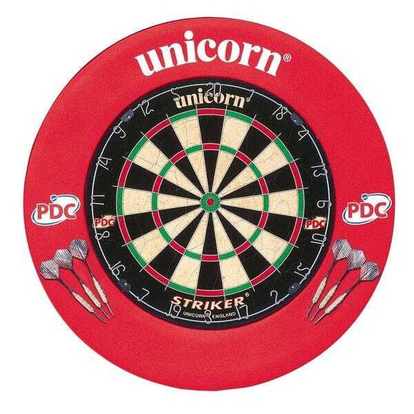 Unicorn Striker Heim Darts Zentrum Dartscheibe Set mit Umgeben & 2 Sets von