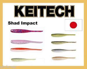 Leurres-doux-Keitech-Shad-Impact-Drop-Shot-Made-in-Japan-Forte-Odeur-perche-brochet