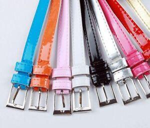 Womens-Skinny-Thin-Fashion-Belt-Candy-Colours