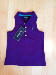 Polo Ralph Lauren Fille Violet Sans Manches Chemise Été Pour 18 Mois Bnwt-afficher Le Titre D'origine