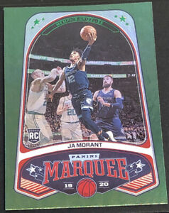 2019-20-Panini-Chronicles-Ja-Morant-Green-Holo-Marquee-Rookie-RC-253-MINT