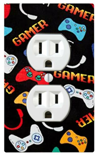 Video Games Switch Cover Cabinet knob Night Light Black Gamer Home Decor