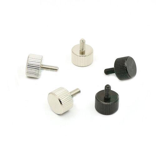 M3 Carbon Steel Manual Adjustment Screw Knurled Thumb Screw Hand Twist Knob Bolt