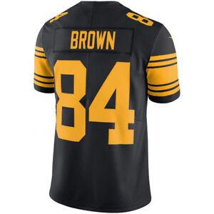 buy popular a3cfc 4ac02 Details about Pittsburgh Steelers Antonio Brown Vapor Untouchable Color  Rush Ltd Jersey XL