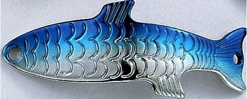 NEW Acme Phoebe SILVER NEON BLUE 1//12 ox Hydrodynamic Curved Spoon Fishing Lure
