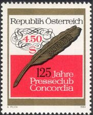 Austria 1984 Press Club/Feather Quill/Newspapers/Journalists/Writing 1v at1018a