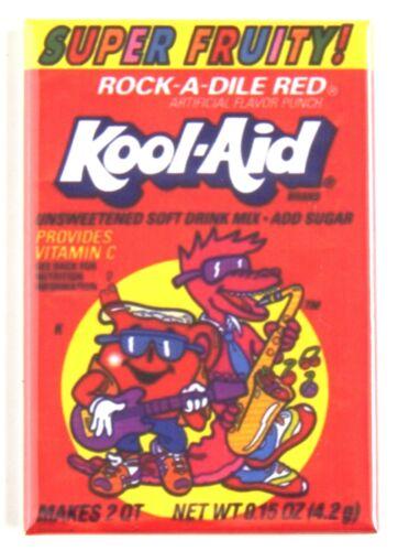 Rock-a-dile Red FRIDGE MAGNET fruit punch crocodile alligator