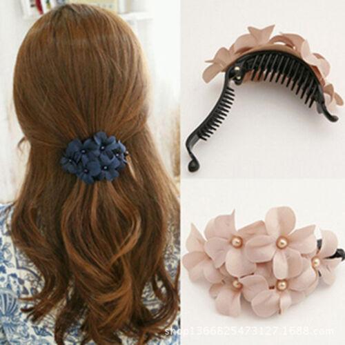 Neu Haarclip Brosche Blüte Haarspange Kopfschmuck Haarschmuck Blume Neu B7T7