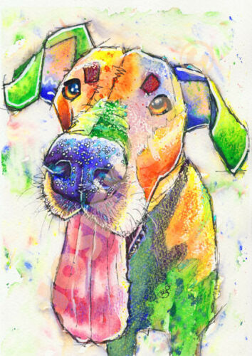 GREAT DANE PRINT of Original Watercolour Dog Painting Art Gift by Josie P