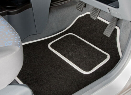 2 CLIP 2329 FORD FOCUS 2011 TO 2015 TAILORED CAR MATS WITH WHITE TRIM