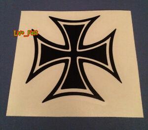IRON-CROSS-DECAL-STICKER-VINYL-maltese-cross-outlaw-biker-chopper-motorcycle