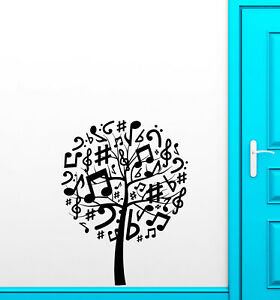 Details about Vinyl Wall Decal Musical Tree Sheet Notes Music Store  Stickers (3680ig)