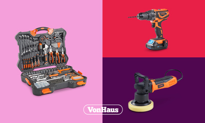 Save 10% on VonHaus Tools