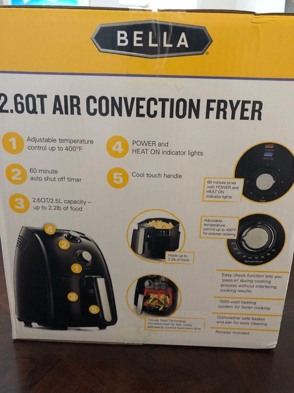 Freidora De Aire 2.6 QT Air Convection Fryer