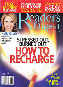 Magazine-Reader-039-s-Digest-February-2007-Katie-Couric-7-secrets-to-a-sexy-marriage