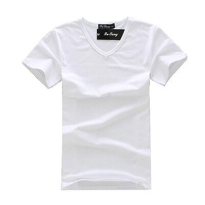2016 New Stylish Men's Slim Fit V-neck/Crew neck T-shirt Short Sleeve Muscle Tee