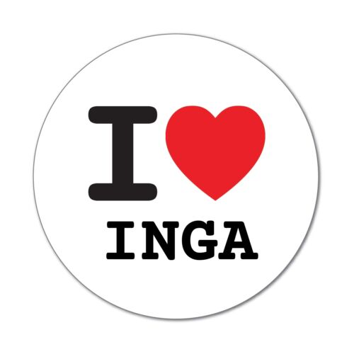 6cm I LOVE Inga-autocollant sticker décalque