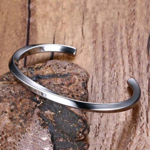 Fashion Cuff Bangle for Man Women Stainless Steel Punk Titanium Bracelet Jewelry