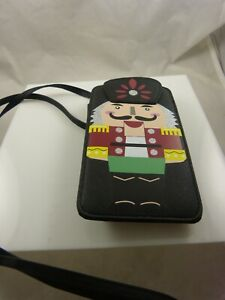 crossbody-phone-purse-Christmas-toy-soldier-nutcracker-look-Black
