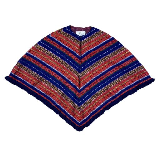 VINTAGE 70s Parade New York Womens Poncho Cape Med