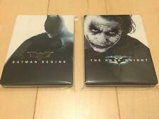 amazon.co.jp limited Batman Begins Blu-ray Dark Knight SteelBook rare 2pcs set