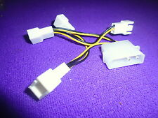 D Type 4 Pin IDE Molex to 4 x 3 Pin Male 12V PC CPU Fan Power Adapter Cable 10cm