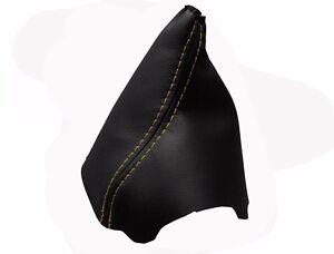 100/% Piel Costuras en Negro Funda Palanca de Cambio CITROEN C4 I 2004-2011